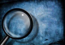 grunge синего стекла увеличивает Стоковое Изображение RF