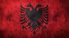 Grunge скомкал флаг Албании перевод 3d Стоковые Фото