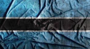 Grunge скомкал флаг Ботсваны перевод 3d Стоковое Изображение RF
