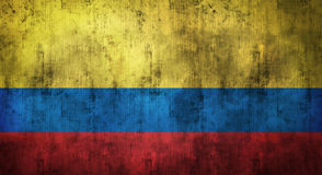 Grunge скомкал флаг Колумбии перевод 3d Стоковые Фото