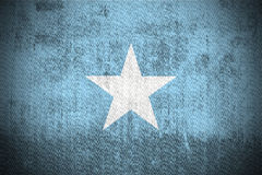 grunge Сомали флага Стоковые Изображения RF