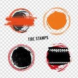 Grunge с штемпелей автошины дороги Стоковая Фотография RF
