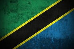 grunge Танзания флага Стоковая Фотография