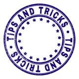 Grunge текстурировал ПОДСКАЗКИ И ФОКУСЫ вокруг уплотнения печати иллюстрация вектора