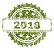 Grunge текстурировал уплотнение 2018 штемпелей Иллюстрация вектора