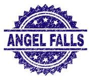 Grunge текстурировал уплотнение штемпеля ANGEL FALLS иллюстрация вектора