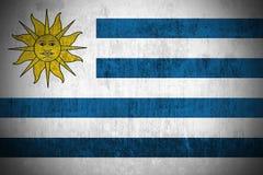 grunge Уругвай флага Стоковое фото RF
