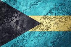grunge флага Багам Флаг Багамских островов с текстурой grunge Стоковые Фотографии RF