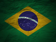 grunge флага Бразилии предпосылки Стоковые Фотографии RF