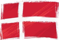 grunge флага Дании Стоковое Изображение