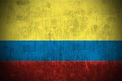 grunge флага Колумбии Стоковое фото RF