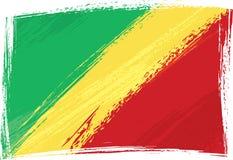 grunge флага Конго иллюстрация штока