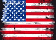 grunge флага мы Стоковое Изображение RF