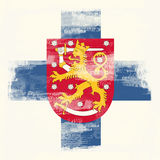 grunge флага Финляндии Стоковое фото RF