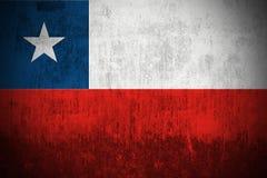 grunge флага Чили Стоковое Изображение RF