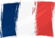 grunge Франции флага Стоковое Фото
