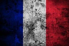 grunge Франции флага Стоковая Фотография RF