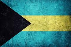 grunge флага Багам Флаг Багамских островов с текстурой grunge Стоковое фото RF