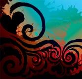 grunge цвета предпосылки Стоковая Фотография RF