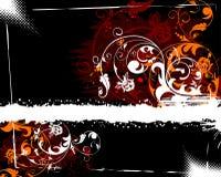grunge цветка предпосылки Стоковая Фотография
