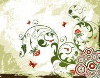 grunge цветка предпосылки иллюстрация штока