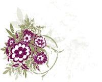 grunge цветка предпосылки Стоковое Изображение RF