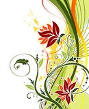 grunge цветка предпосылки Стоковые Фотографии RF