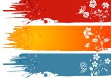 grunge цветка предпосылки Стоковые Фото