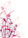grunge цветков бабочек предпосылки Бесплатная Иллюстрация