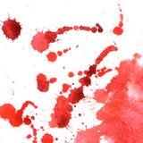 Grunge水彩背景 血液下落和飞溅  库存图片