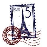 grunge巴黎邮戳印花税样式 库存照片