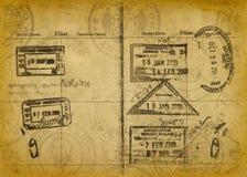 grunge护照标记葡萄酒 库存图片