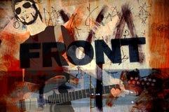 grunge例证音乐家 免版税库存图片
