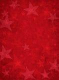 grunge红色星形 免版税库存图片