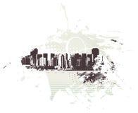 都市城市的grunge 库存照片