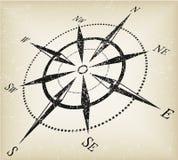指南针grunge向量 免版税库存照片