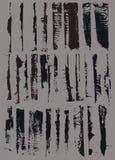 μαύρο χέρι grunge που χρωματίζετ& Στοκ Εικόνα