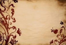 背景花卉grunge 免版税图库摄影