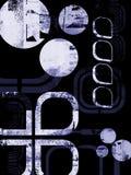 μπλε σχεδιάγραμμα grunge Στοκ φωτογραφία με δικαίωμα ελεύθερης χρήσης