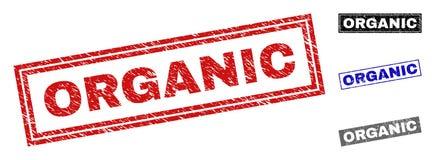 Уплотнения печати прямоугольника Grunge ОРГАНИЧЕСКИЕ текстурированные бесплатная иллюстрация