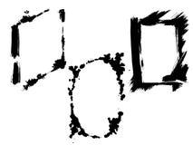 Διανυσματικά ξηρά πλαίσια βουρτσών Συρμένα χέρι καλλιτεχνικά πλαίσια Γραπτή χαραγμένη τέχνη μελανιού r απεικόνιση αποθεμάτων