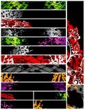 grunge 16 знамен Стоковые Фотографии RF