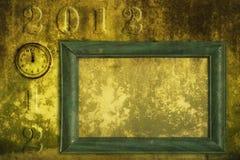 Grunge 2012 frame royalty free stock photography