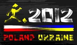 Grunge 2012 Poland & Ukraine Stock Image