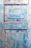 голубое grunge двери Стоковая Фотография