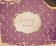 Предпосылка сбора винограда розового grunge вектора ретро Стоковое Изображение RF