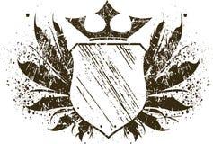 grunge盾 免版税库存照片