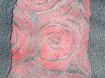 抽象与玫瑰的grunge织地不很细背景 库存照片