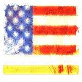 滴下美国国旗的Grunge 免版税库存图片
