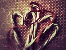 Grunge тросточек конфеты Стоковые Изображения RF